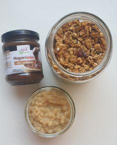 Karamellás rizspuding Granola, Cereal, Oatmeal, Breakfast, Food, Caramel, The Oatmeal, Morning Coffee, Rolled Oats