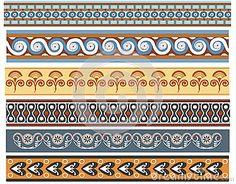 A set of Ancient minoan patten designs