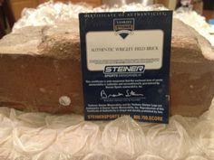 Authentic Wrigley Field brick certified by Steiner Sports. Even has a Steiner hologram sticker on the side! Hologram Stickers, Wrigley Field, Brick, Unique, Sports, Hs Sports, Bricks, Sport