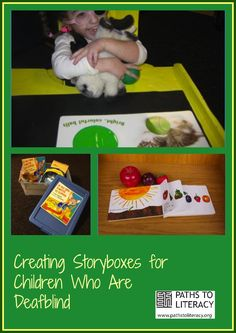 Story Boxes Literacy Adaptations for Students Who Are Deafblind is part of Deaf children Activities - Ideas and strategies for creating story boxes for students who are deafblind, visually impaired, or who have multiple disabilities Language Activities, Sensory Activities, Learning Activities, Multiple Disabilities, Learning Disabilities, Student Teaching, Teaching Kids, Braille, Environmental Print