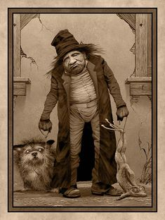 """Fetlick and His Dog, Home for the Evening"" ~ Edward Binkley"