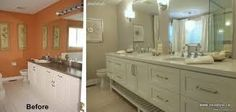 Image result for before and after pictures of bathroom makeovers
