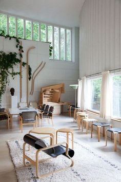 The studio of Finnish architect and designer Alvar Aalto; you can buy his furniture at Artek.