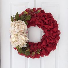 Primitive spring or summer burlap wreath by SimpleCountryBurlap