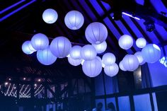 Dance floor lit lanterns for amazing wedding reception lighting