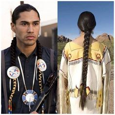 When you think of a Native American, you usually imagine them wearing their hair in braids. This hair style was often the traditional style among Native American men. Native American Images, Native American Wisdom, American Indian Art, Native American Tribes, Native American History, American Indians, Native Indian, Native Art, Nativity