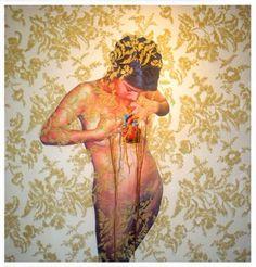 "damnitamber: "" art with embroidery by Ana Teresa Barboza Gubo "" Fine Art Textiles, Textile Art, Thread Art, Anatomy Art, Embroidery Art, Textile Patterns, Medium Art, Female Art, Art History"