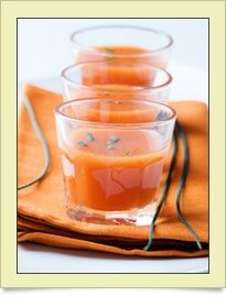 Cold diet soup on a hot summer day - easy way to lose some weight!