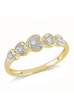 0.05 CT Diamond Fashion Ring In 10k Yellow Gold