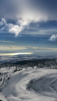 Snow Mountain Winter Cold View #iPhone #6 #plus #wallpaper