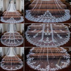 Tulle & Chantilly is an online shop specializing in bridesmaid dresses, bridal gowns, bridesmaid gifts, robes and wedding accessories. Chapel Length Veil, Chapel Veil, Veil Hairstyles, Wedding Hairstyles With Veil, Wedding Veils, Bridal Veils, Wedding Bride, Hair Wedding, Boho Wedding