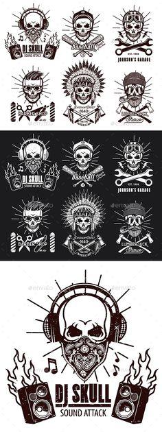 Set of Brutal Skulls - Concepts Business