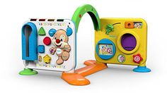 With 20+ activities and 4 sides of play this grow-with-me toy takes your baby through important Stages and milestones from sitting. To crawling. To standing to cruising. There are 200 sounds songs...