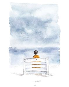 "Amazing work by ""'SEA NOTES' Watercolor series. Favorite sea mood, quiet and calm. Watercolor Illustration, Contemporary Art, Abstract Art, Nerd, Rain, Sketches, Notes, Clouds, Fine Art"