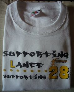 Supporting Lance and the 28 Million affected by cancer - fundraising shirt benefiting the LAF