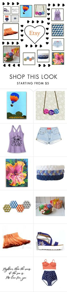 Summer on Etsy by xena-style on Polyvore featuring Mix & Match hexagon coasters blue white place mat