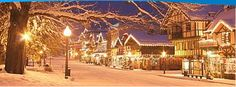 Christmas tree lighting in Levenworth Washington when all the x-mas lights are turned on at the same time.  Very romantic!  P ~