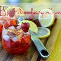 Fresh Strawberry Lemonade - sweet summer!