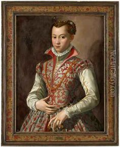 Isabella Av Medici Oil Painting - Angelo Bronzino