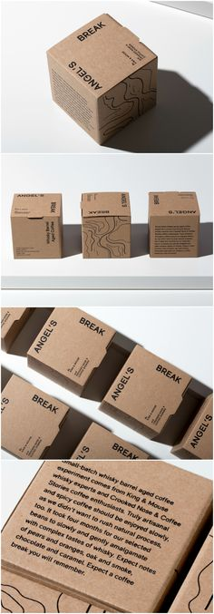 Packaging Design for Lithuanian Based Coffee Beans Roasters Design Agency: Tadas Karpavicius Brand / Project Name: ANGEL'S BREAK | coffee beans packaging Location: Lithuania Category: #Coffee #Beverages World Brand & Packaging Design Society