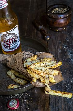 Celeriac fries - delicious and addictive, these can perfectly satisfy your French fries cravings but for a fraction of the calories.