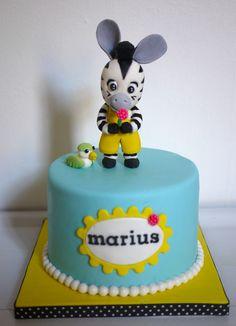Zou zebra cake for my baby birtday Zebra Birthday, 4th Birthday Cakes, Happy Birthday, Fondant Cakes, Cupcake Cakes, Zebra Cakes, Zou, Character Cupcakes, Biscuit