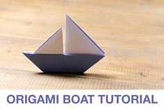 So pretty with amazing lines! How to make an Origami Sail Boat!: Origami Sail Boat Tutorial