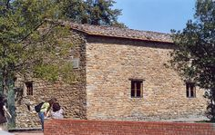 Casa Leonardo, the house where Leonardo da Vinci is believed to have grown up. It is situated alongside Via di Anchiano, 3km north of Vinci, Tuscany, Italy