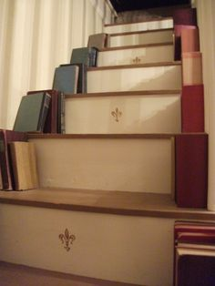 Used my staircase as a bookshelf - I love it!