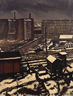 Antoine Villard:  Circuit Railway at Grenelle (1922) via Tate