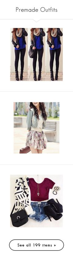 """""""Premade Outfits"""" by laceyleanne18 ❤ liked on Polyvore featuring outfits, pictures, lookbook, backgrounds, tumblr outfits, fillers, jewelry, tumblr, hipster jewelry and heart jewellery"""