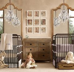 couch in the nursery or kids room.. awesome idea!! cute wall