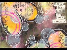 Nika Rouss - Art Journaling Mixed Media: Happy tutorial...