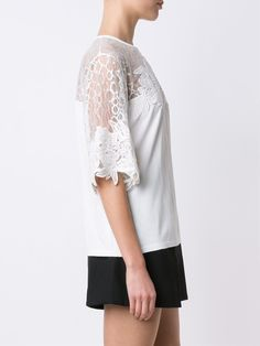 Elie Saab lace panel knit top