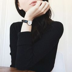 """""""Loving my new dainty and classy little watch from @danielwellington! You can get your own for 15% off with the code BECKYBIRD from now until October 15th…"""""""