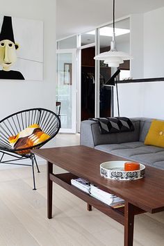 So many mid century beauties in this setting from the BoBedre design blog. Start recreating your space to have a charming 1950's vibe with an Acapulco from www.skycarte.com.au