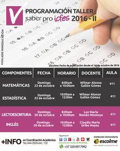 @Escolmeeduco ¿Ya estás preparado para la programación del taller de las pruebas saber pro 2016-2?