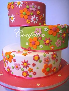 Pretty Cake - make one of the layers