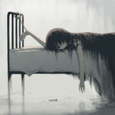 Dark Fantasy Art, Sad Drawings, Dark Art Drawings, Sad Anime Girl, Anime Art Girl, Dark Anime Art, Anime Girl Crying, Manga Art, Anime Girls