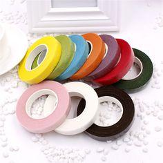 安い25メートル紙花輪テープ造花固定用品結婚式の装飾diy花輪フローレステープ