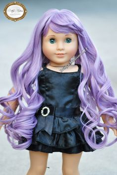 18 inch size 10-11 American Girl Doll Wig. Premium Heat Safe Doll Wig for Custom American Girl Dolls