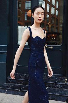 Lela Rose Resort 2019 Presentation Look 16 Fall Dresses, Blue Dresses, Wedding Dresses, Elegant Dinner Party, Lela Rose, Haute Hippie, Glamour, Fashion Story, Formal Gowns