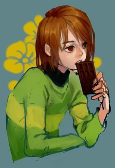 ok but am i the only one who thinks chara and mello would be buds // OMG CARAMELLO Anime Undertale, Undertale Cute, Frisk, Yandere, Game Art, Toby Fox, Underswap, Chef D Oeuvre, The Villain