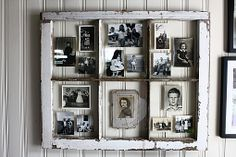 antiqued window picture frame