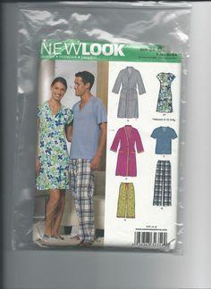 Uncut New 2000 Look 6858 Unisex Nightwear Size Xs-Xlarge
