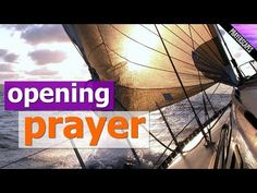 """""""Opening Prayer"""" is a beautiful uplifting prayer suitable for beginning a meeting, church service or conference with. This short video gives thanks for the b. Prayers Of Gratitude, Good Prayers, Beautiful Prayers, Opening Prayer For Meeting, Closing Prayer, Types Of Prayer, Book Of Common Prayer, Praise And Worship Prayer, Glory Be Prayer"""