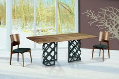 Τραπεζαρία Empire | Dining table Empire #home #homedecor #interiordesign #furniture #diningroomideas #diningroom #table #wood #metal