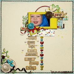 To create this layout, I used Pastel Templates by Jellebelleke Designs and this freebie kit Kitschy Hearts by Akizo Designs . Scrapbook Pages, Scrapbooking, Funny Cute, Layout Design, Layouts, My Photos, Pastel, Templates, Create
