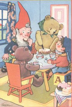 1950's vintage Noddy print... Omg so I totally remember this cartoon from when I was little! No one ever remembers it but me though :/