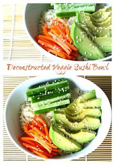 Deconstructed Veggie Sushi Bowl #MeatlessMonday